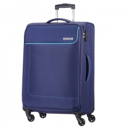 AMERICAN TOURISTER FUNSHINE Trolley spinner da 66/24 in polistere ORION BLUE
