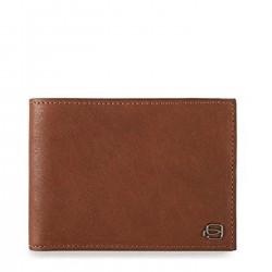 PIQUADRO B3 Portafogli uomo porta carte e monete in pelle CUOIO