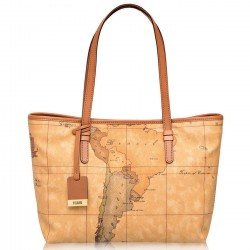 ALVIERO MARTINI Borsa shpping media a spalla stampa geo NATURAL CD0046000