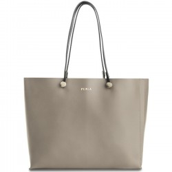 FURLA EDEN Borsa donna shopping grande in pelle color SABBIA