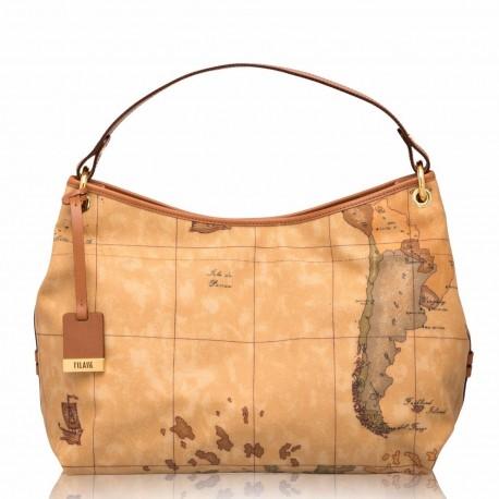 più foto 96684 e1876 ALVIERO MARTINI Prima classe borsa sottospalla piccola in geo classic