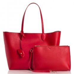 ALVIERO MARTINI PRIMA CLASSE Shopping grande in pelle POPPY-RED