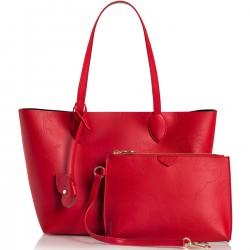 ALVIERO MARTINI PRIMA CLASSE Shopping media in pelle POPPY-RED