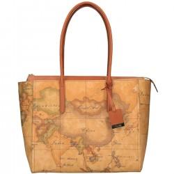 ALVIERO MARTINI Shopping a spalla in geo classic NATURAL Coll. Continuativa