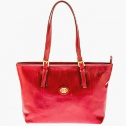 THE BRIDGE STORY Borsa donna shopping a spalla regolabile in pelle ROSSO