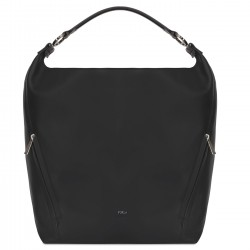 FURLA LADY Borsa sacca a spalla media in pelle vitello NERO