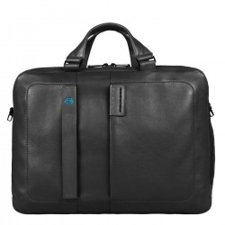 PIQUADRO PULSE Borsa professionale porta pc ipad in pelle NERO