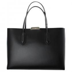 EMPORIO ARMANI Shopping L in vacchetta BLACK-BLACK F/W 2018-19
