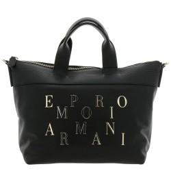 EMPORIO ARMANI Shopping stampa minicervo BLACK W/F 2018-19