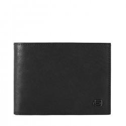 PIQUADRO B3R Portafogli uomo con porta carte porta documenti e monete in pelle NERO