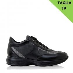 ALVIERO MARTINI Sneaker con lacci in GEOBLACK 38
