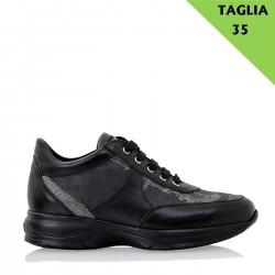 ALVIERO MARTINI Sneaker con lacci in GEOBLACK 35