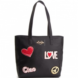 LOVE MOSCHINO Borsa shopper grande NERO P/E 2019