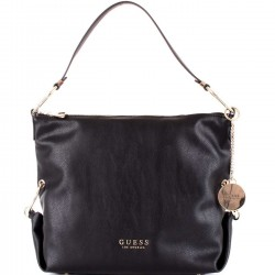 GUESS CARY Borsa hobo in ecopelle BLACK P/E 2019