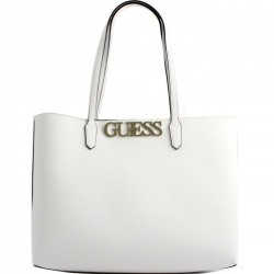 GUESS UPTOWN CHIC Borsa shopper grande reversibile WHITE P/E 2019