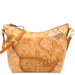 ALVIERO MARTINI PRIMA CLASSE Borsa donna media a spalla in geo soft NATURAL