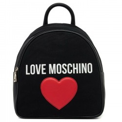 LOVE MOSCHINO Zaino in tessuto CANVAS/PEBBLE NERO P/E 2019