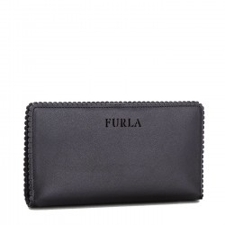 FURLA MERLETTO Tascone pelle bordo merletto ONYX