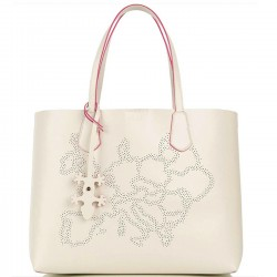 ALVIERO MARTINI PRIMA CLASSE Shopper media in pelle con pochette interna IVORY P/E 2019