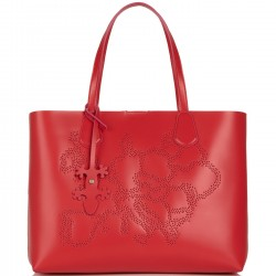 ALVIERO MARTINI PRIMA CLASSE Shopper media in pelle con pochette interna POMEGRANAT P/E 2019