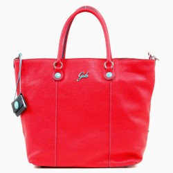 GABS GSHOP Shopper in pelle due manici trasformabile M RUGA SANGUE P/E 2019
