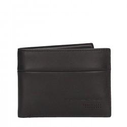 PIQUADRO UB00R Portafogli uomo con porta carte credito e moneta in nappa NERO PE19