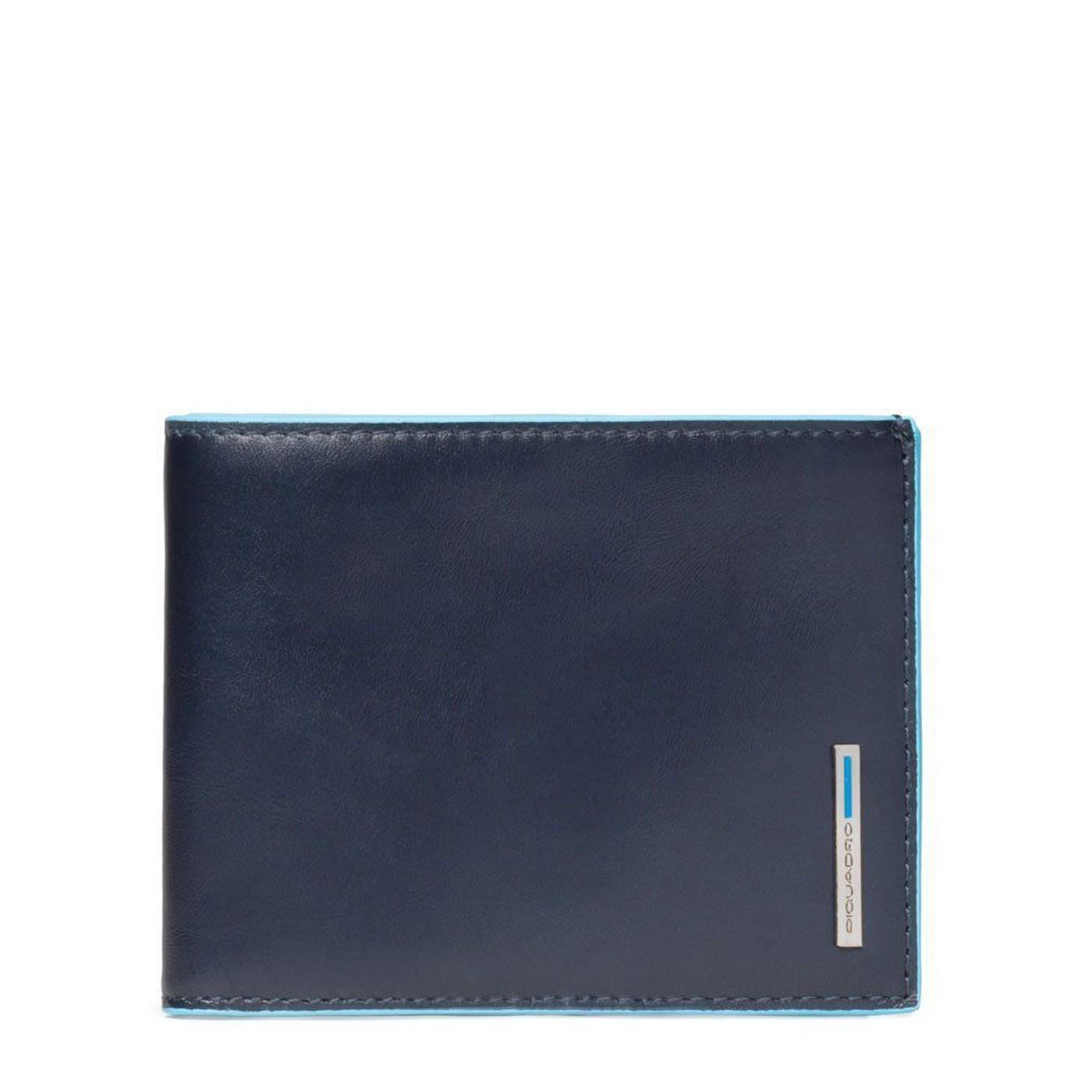 494850385b PIQUADRO BLUE SQUARE Portafogli uomo con porta carte e moneta in pelle BLU