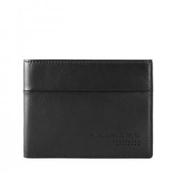PIQUADRO UB00R Portafogli uomo con porta carte credito in nappa NERO PE19