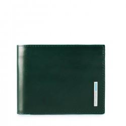 PIQUADRO B2R Portafogli uomo medio con porta carte e moneta in pelle VERDE