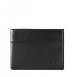 PIQUADRO UB00R Portafogli uomo medio con porta carte credito in nappa NERO PE19