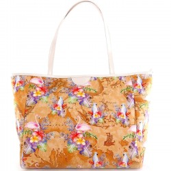 ALBIERO MARTINI Borsa shopper in tessuto fantasia P/E 2019 MULTICOLOR