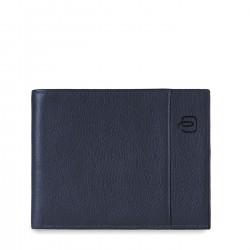 PIQUADRO P15S Portafoglio in pelle patente moneta BLU2