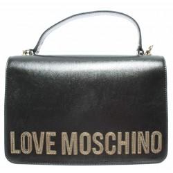 LOVE MOSCHINO Borsa a mano con logo frontale METALLIC PU FUCILE Pre A/I 2019-2020