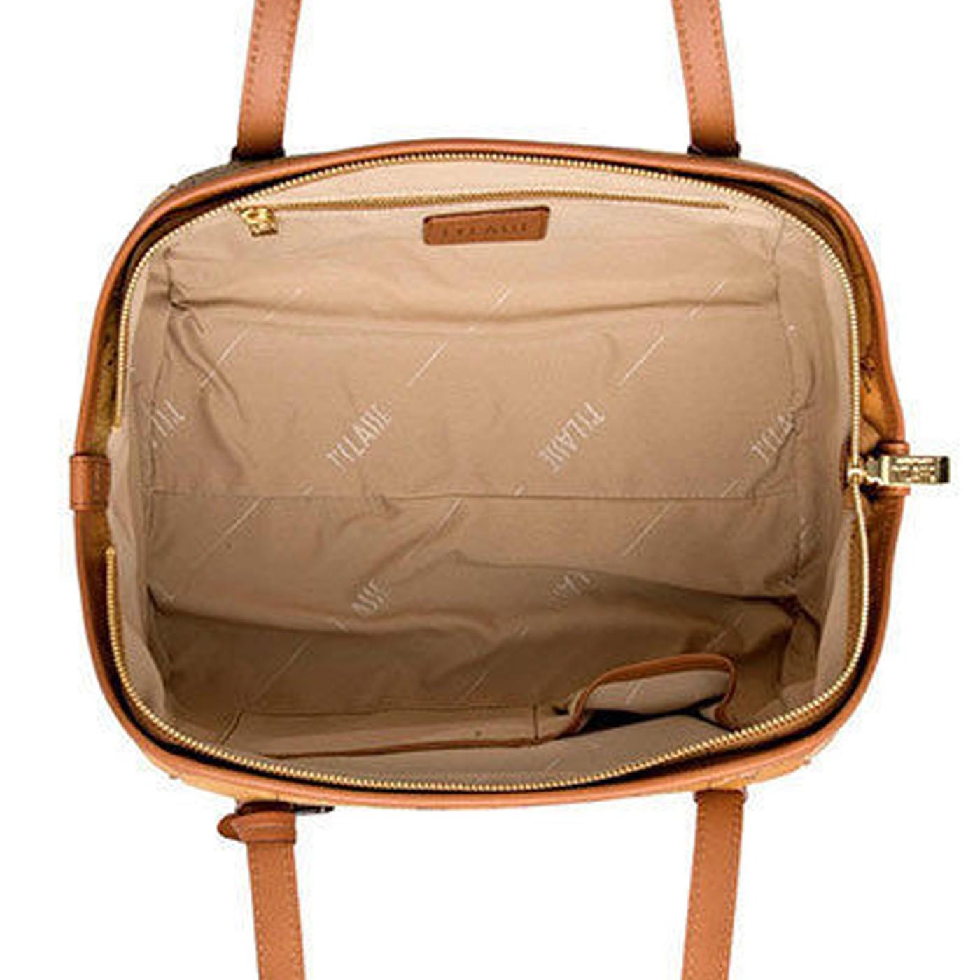 ALVIERO MARTINI Medium Shoulder bag in Geo printed NATURAL