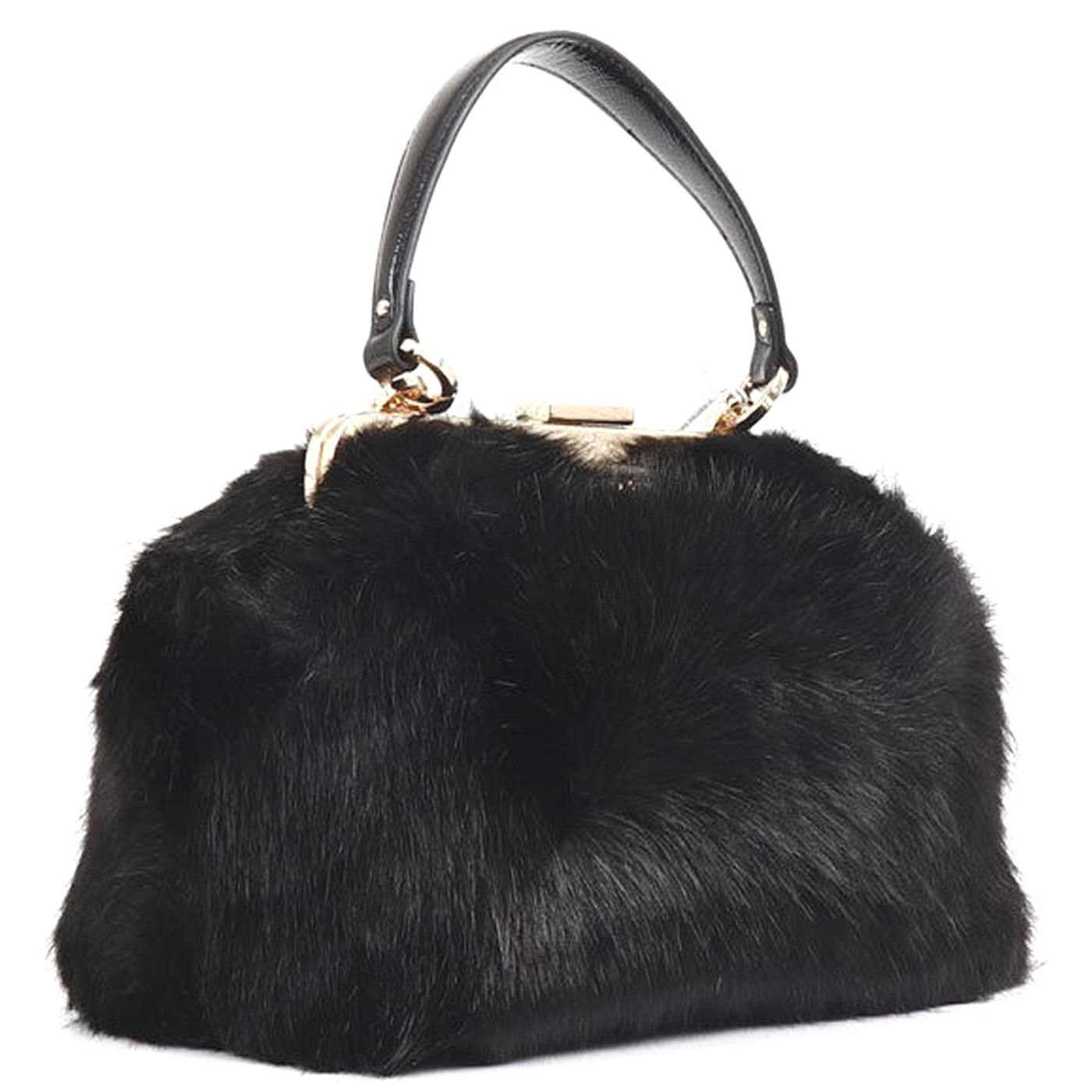 03acd75a3b50 PATRIZIA PEPE Woman s Shoulder Bag in BLACK FUR F W 2018-19 ...