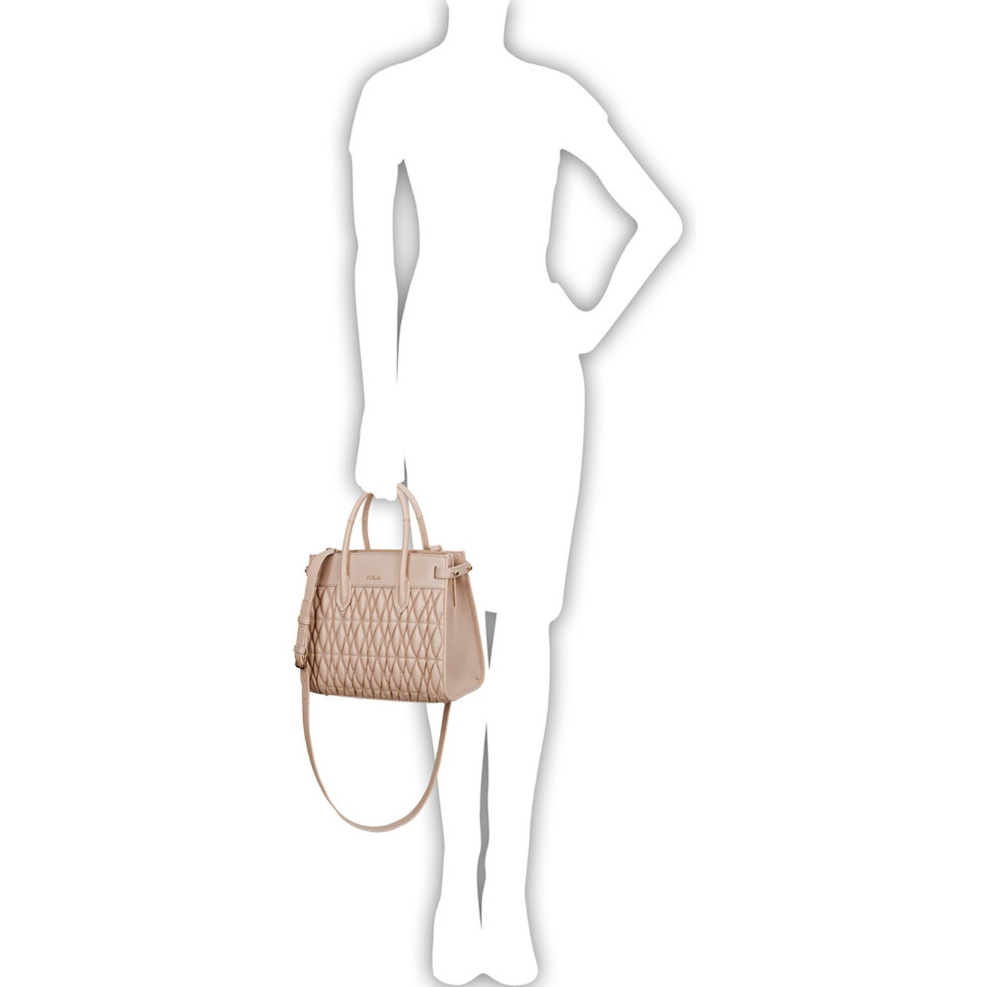FURLA PIN COMETA Quilted Leather Hand Bag DALIA S S 2019 ... 90cde248203